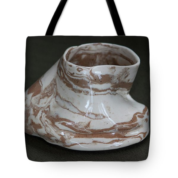 Organic Marbled Clay Ceramic Vessel Tote Bag by Suzanne Gaff