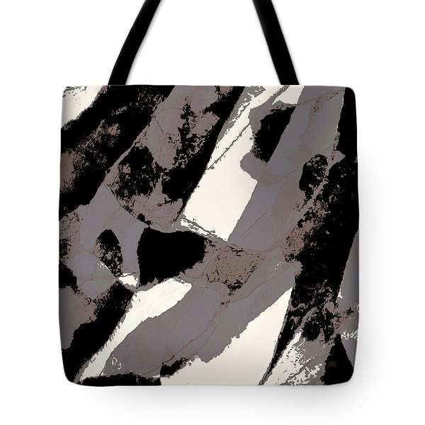 Tote Bag featuring the digital art Organic No 1 Abstract by Menega Sabidussi