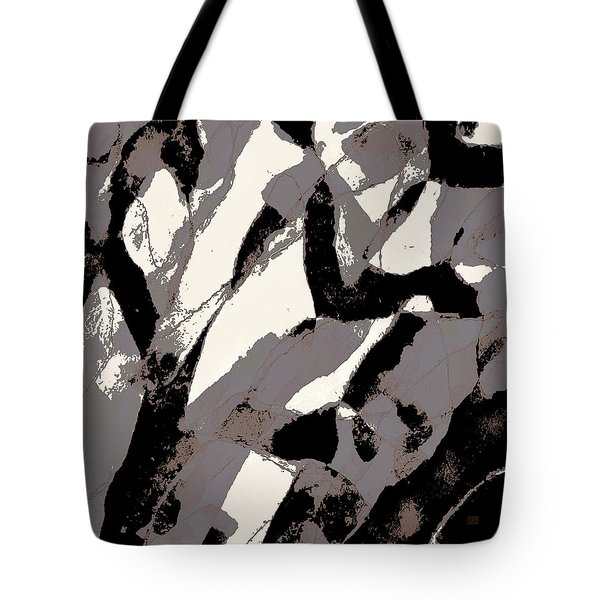 Tote Bag featuring the digital art Organic No 2 Abstract by Menega Sabidussi