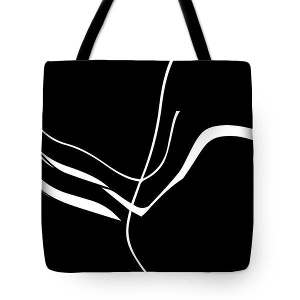 Organic No. 8 White On Black Minimalism Tote Bag