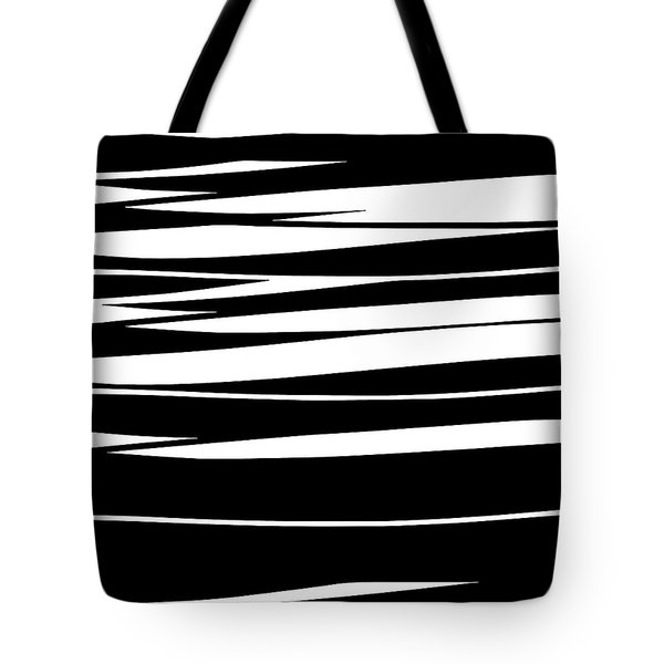 Tote Bag featuring the digital art Organic No 9 Black And White by Menega Sabidussi