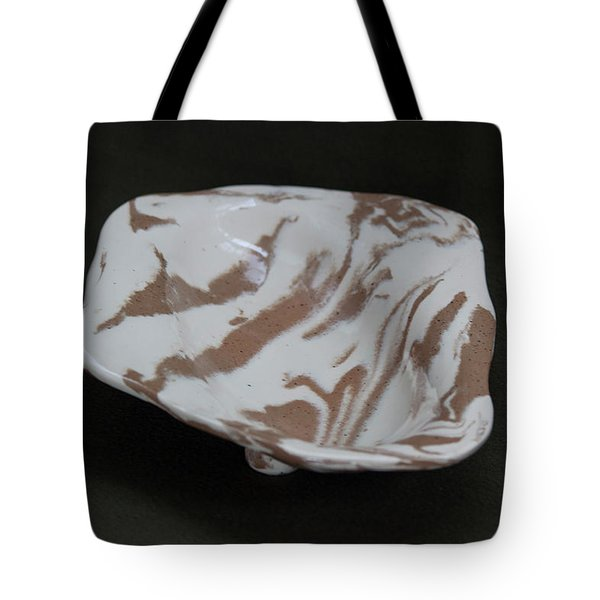Organic Oval Marbled Ceramic Dish Tote Bag by Suzanne Gaff