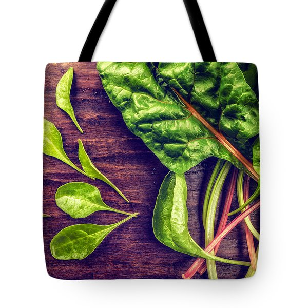 Tote Bag featuring the photograph Organic Rainbow Chard by TC Morgan