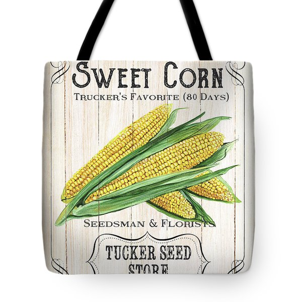 Tote Bag featuring the painting Organic Seed Packet 4 by Debbie DeWitt