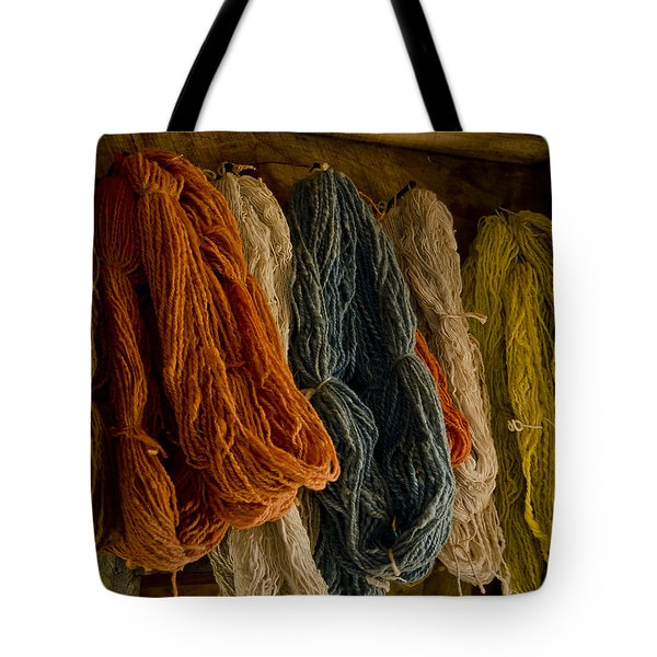Organic Yarn And Natural Dyes Tote Bag