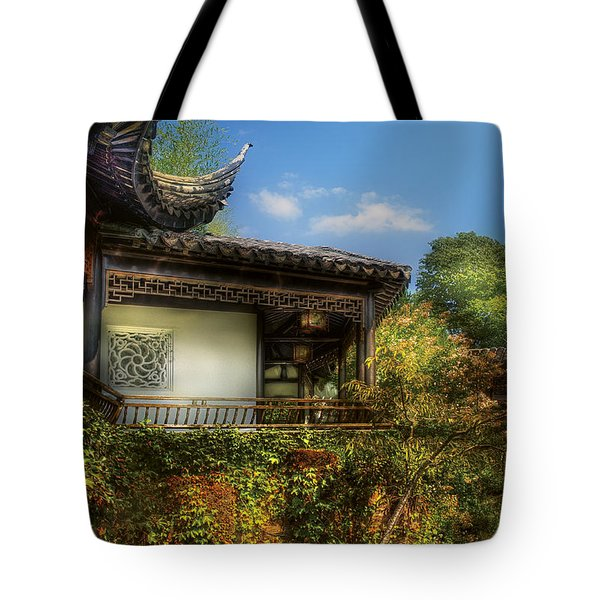 Orient - A Place To Pray  Tote Bag by Mike Savad