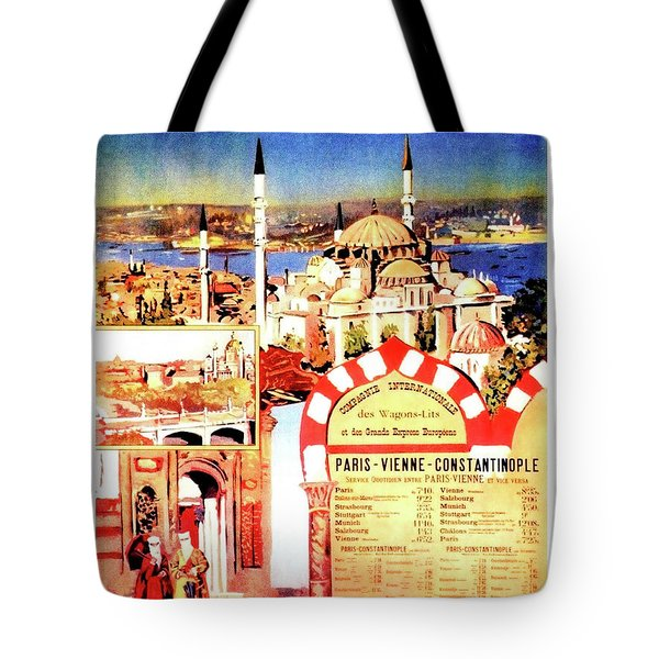 Orient Express, Istanbul, Vintage Travel Poster Tote Bag