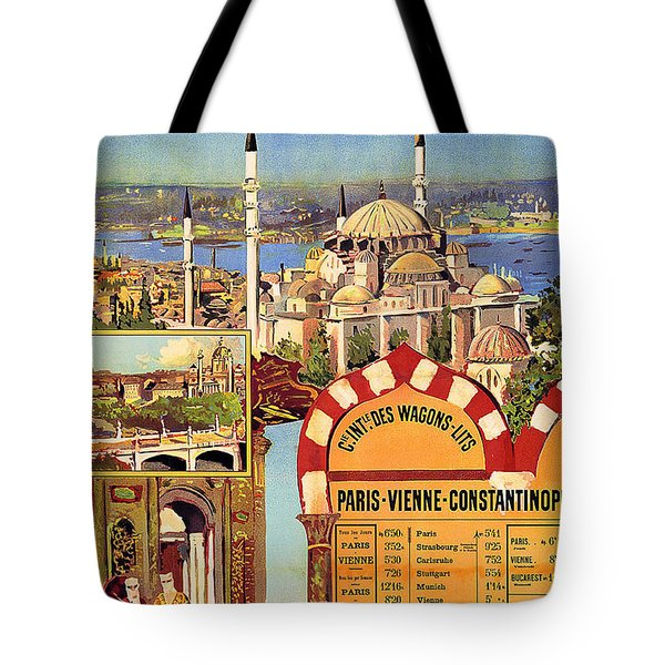 Orient Express, Railway, Vintage Travel Poster Tote Bag