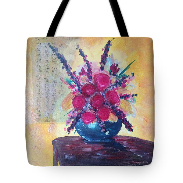 Oriental Arrangement Tote Bag