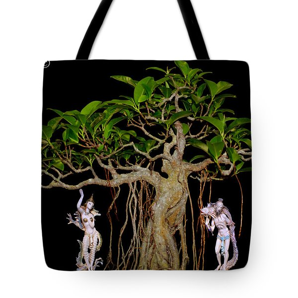Oriental Bonsai Gods Tote Bag