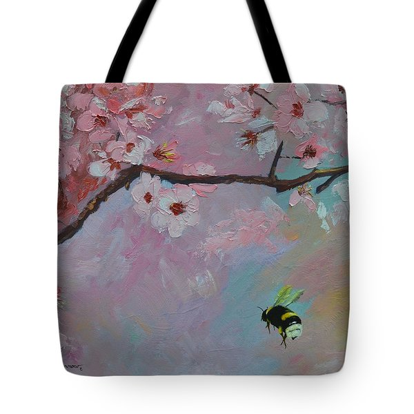 Oriental Cherry Tote Bag by Sue Furrow