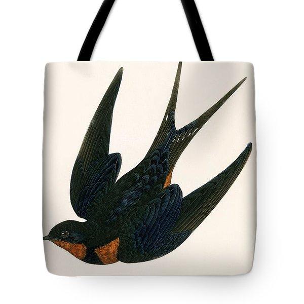 Oriental Chimney Swallow Tote Bag