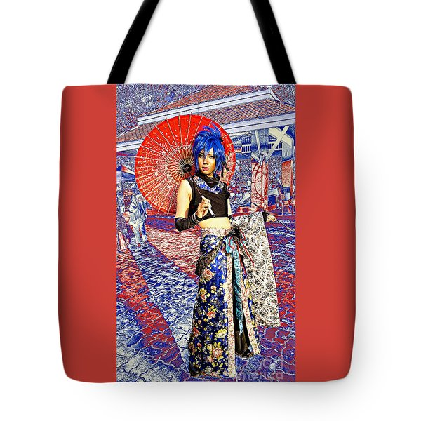 Oriental Cosplayer Tote Bag by Ian Gledhill