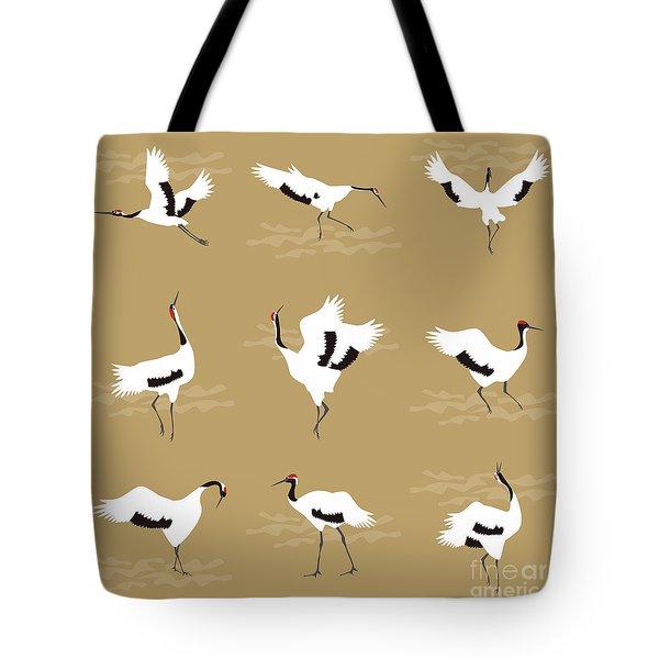 Oriental Cranes Tote Bag