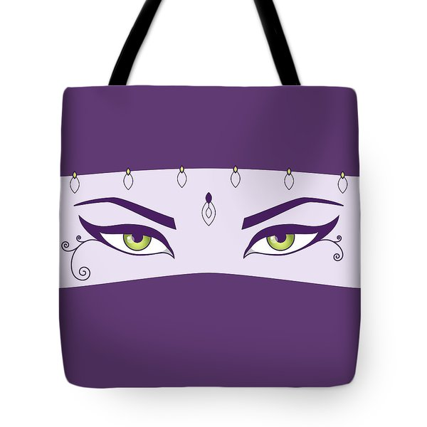 Oriental Dancer With Green Eyes Tote Bag