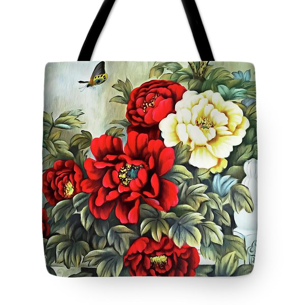 Tote Bag featuring the photograph Oriental Flowers by Munir Alawi