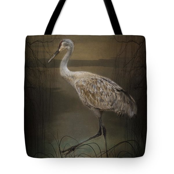 Oriental Sandhill Crane Tote Bag