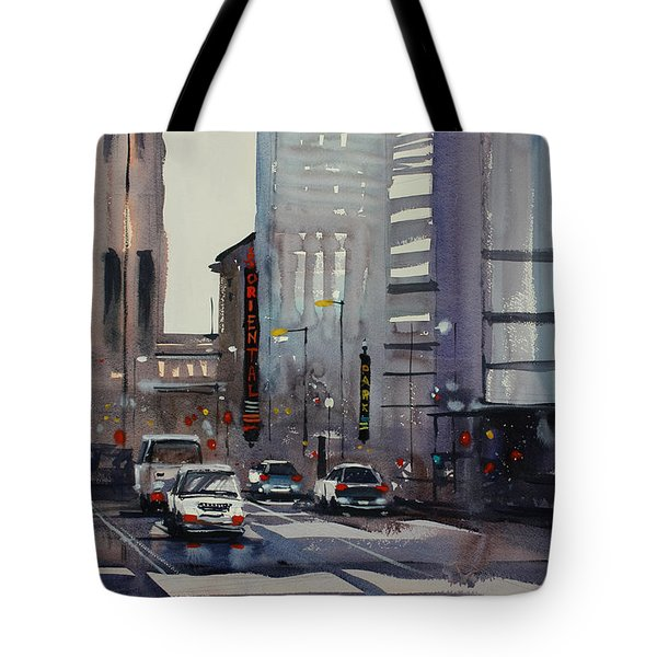 Oriental Theater - Chicago Tote Bag by Ryan Radke