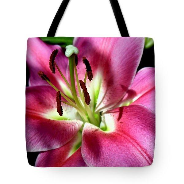 Oriental Trumpet Lily Tote Bag