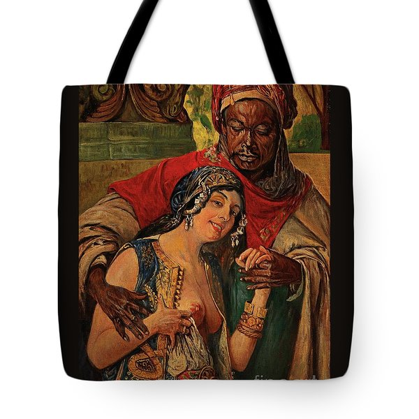 Tote Bag featuring the painting Orientalisches Paar  by Pg Reproductions