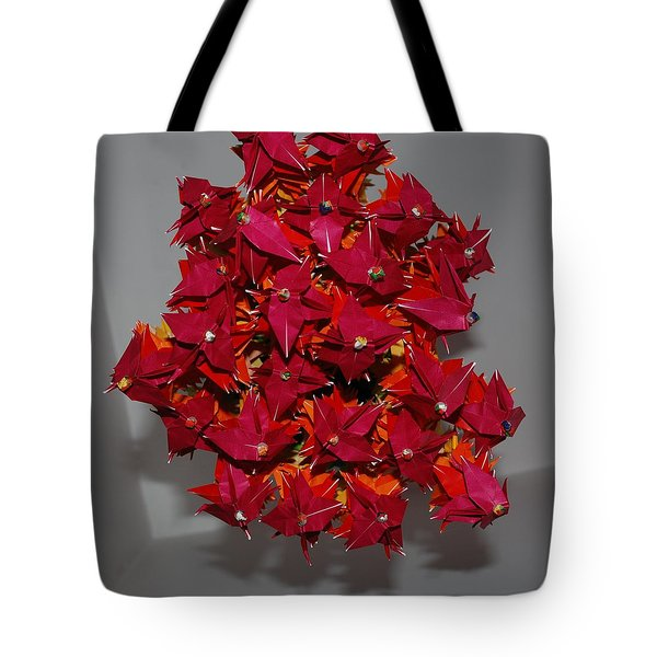 Origami Flowers Tote Bag by Rob Hans