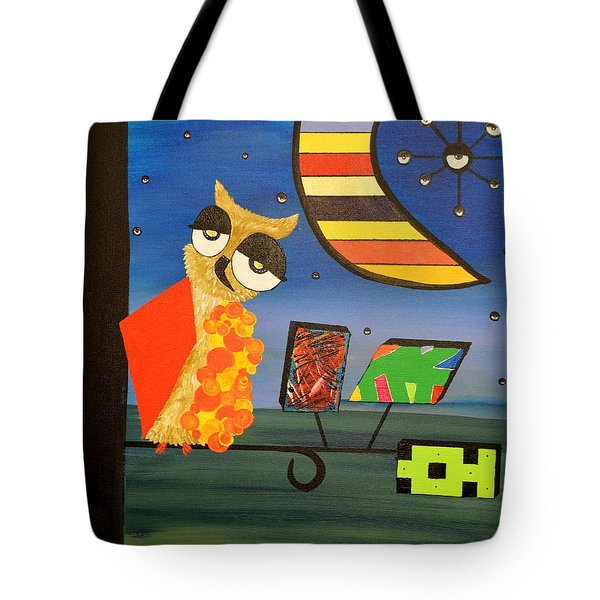 Original Acrylic Artwork By Mimi Stirn - Hoomasters Collection - Hoopicasso #410 Tote Bag