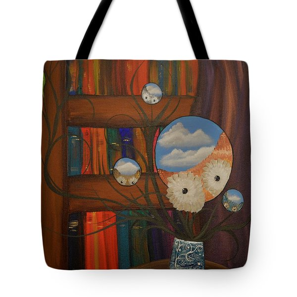 Original Artwork By Mimi Stirn - Hoomasters Collection - Hoo Magritte #411 Tote Bag