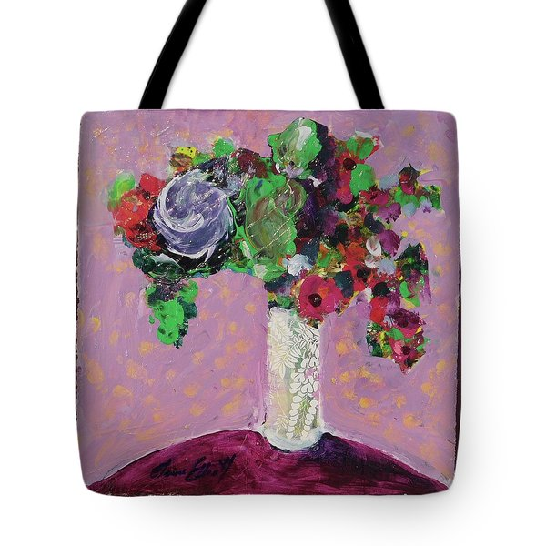 Original Bouquetaday Floral Painting 12x12 On Canvas, By Elaine Elliott, 59.00 Incl. Shipping Tote Bag by Elaine Elliott