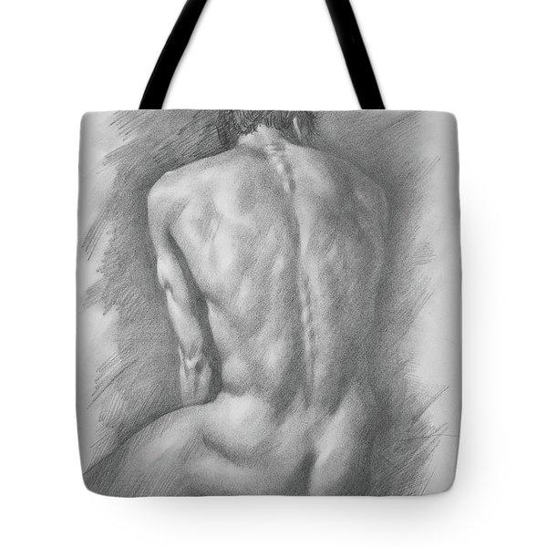 original Drawing male nude man #17325 Tote Bag