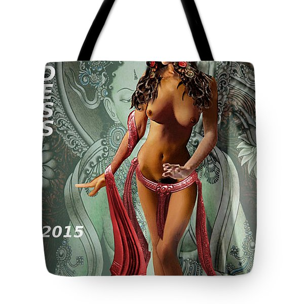 Original Female Nude Jean Goddess As Tara Dancing Poster Tote Bag