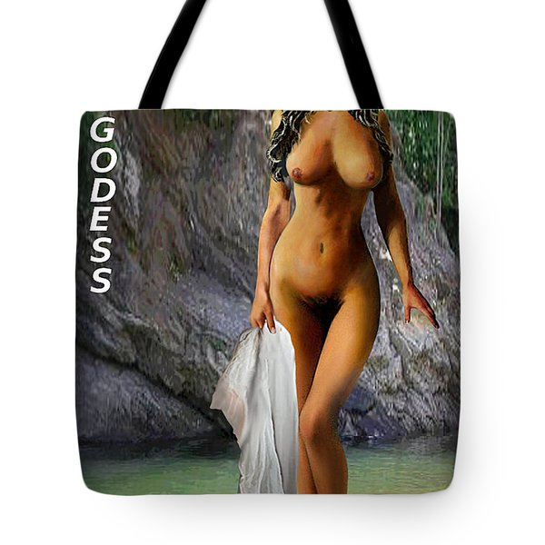 Original Female Nude Jean Goddess Venus Bathing Poster Tote Bag