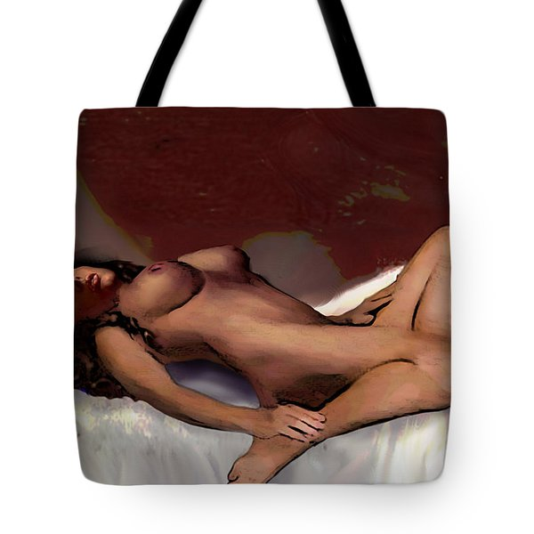 Original Fine Art Nude Jean 8c Sketch2 Multimedia Digital Art Work Tote Bag