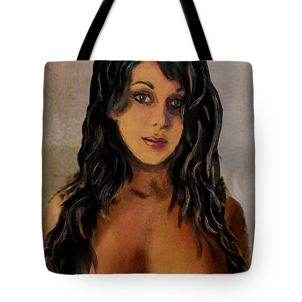 Original Fine Art Nude Jean Portrait 1d Tote Bag