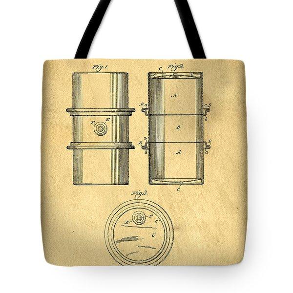 Original Patent For The First Metal Oil Drum Tote Bag
