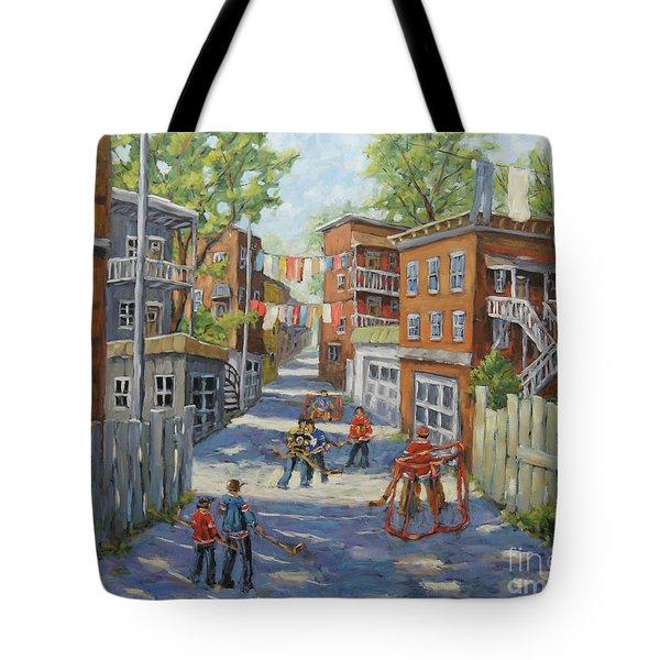 Original Six Back Lanes  Tote Bag
