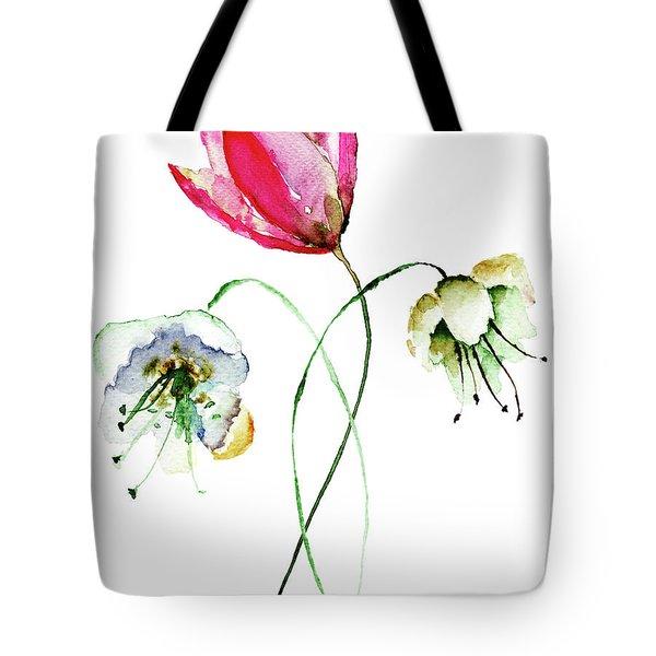 Original Summer Flowers Tote Bag