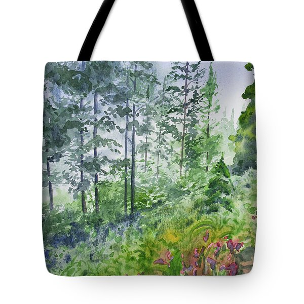 Original Watercolor - Summer Pine Forest Tote Bag