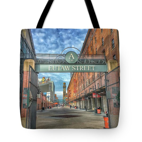 Oriole Park At Camden Yards - Eutaw Street Gate Tote Bag