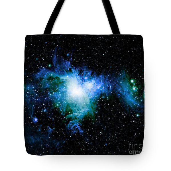 Orion Nebula Blue Green  Tote Bag