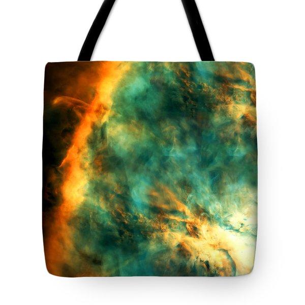 Orion Nebula Fire Sky Tote Bag by Jennifer Rondinelli Reilly - Fine Art Photography
