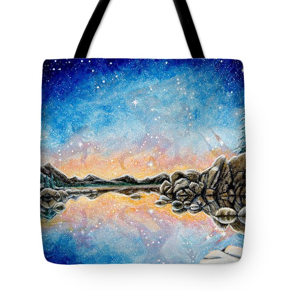 Orion Over Tahoe Winter Tote Bag