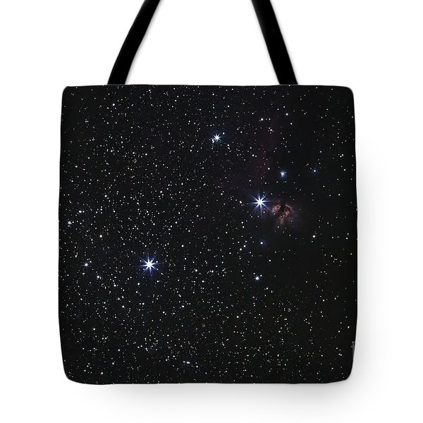 Orions Belt, Horsehead Nebula And Flame Tote Bag by Luis Argerich