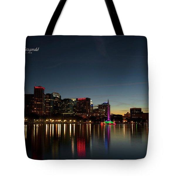 Orlando Beautiful Lake Eola Sunset Tote Bag