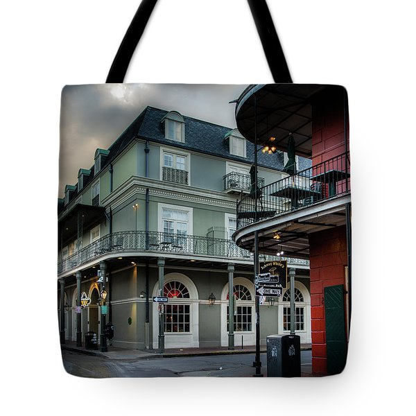 Orleans And Bourbon Tote Bag