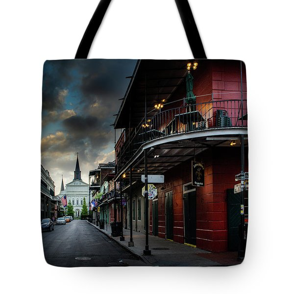 Orleans Street To St Louis Cathedral Tote Bag