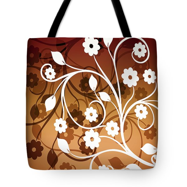 Tote Bag featuring the digital art Ornamental 2 Warm by Angelina Vick