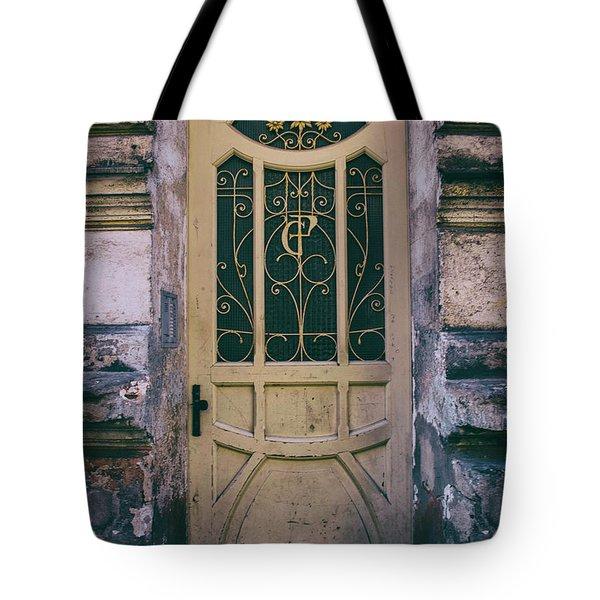 Ornamented Doors In Light Brown Color Tote Bag by Jaroslaw Blaminsky