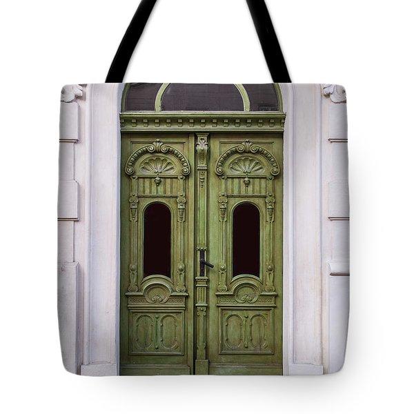 Ornamented Gates In Olive Colors Tote Bag by Jaroslaw Blaminsky