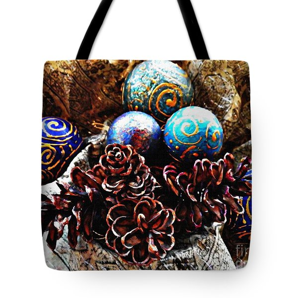Ornaments 6 Tote Bag by Sarah Loft