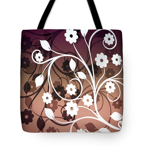 Tote Bag featuring the digital art Ornametal 2 Purple by Angelina Vick